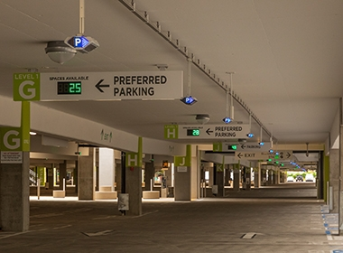 Image of Aviation Pros: San Diego International Airport Unveils Indect's  Parking Guidance System In New Terminal 2 Parking Plaza