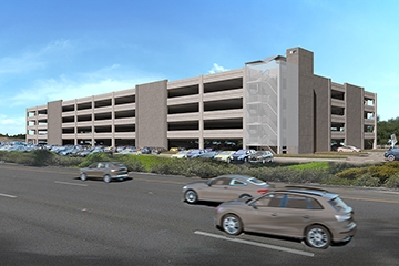 Image of Mineta San Jose International Airport Economy Lot Parking Garage